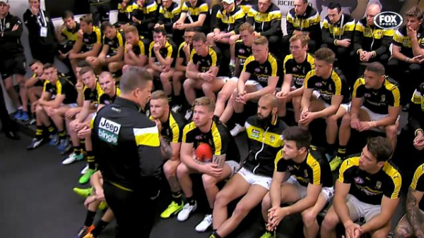 Documentary lifts lid on Damien Hardwick's speech to Richmond players during 2017 AFL Grand Final