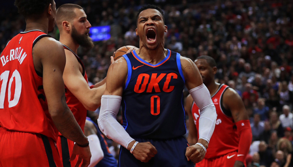 Westbrook Gets Downhill, Thunder Closes Out Dramatic Win – OKC 132, TOR 125