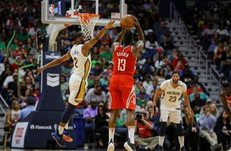 Harden, Rockets beat Pelicans for 21st win in 22 games