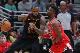 LeBron James records 15th triple-double in Cavaliers' 114-109 win over Bulls