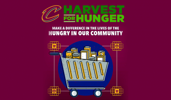 "Cavs Collecting Items for Greater Cleveland Food Bank's ""HARVEST FOR HUNGER"""
