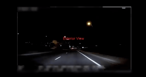 This is the dashcam footage from Uber's fatal self-driving car accident