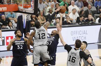 Aldridge's 39 points lead Spurs past Wolves, 117-101