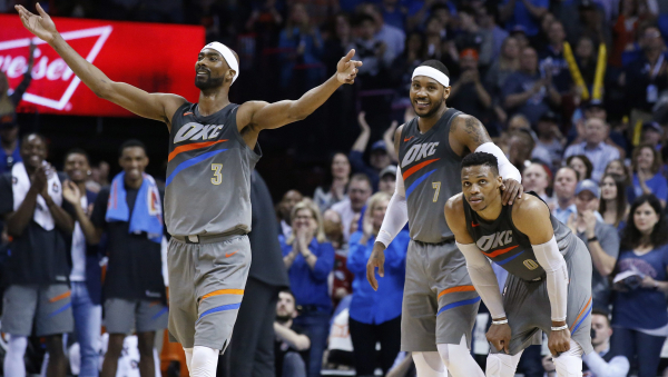 Corey Brewer continues to be key, scores 22 as Thunder beat Clippers 121-113