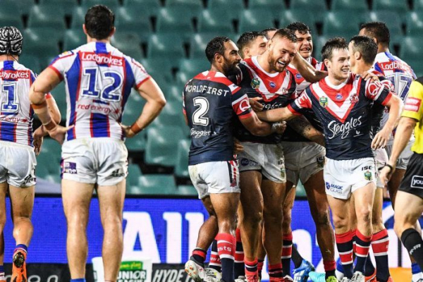 Roosters vanquish the Knights after Dragons scorch the Titans