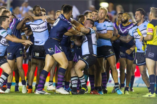 Cronulla beats Melbourne amid storm over penalties, Rabbits beat Dogs