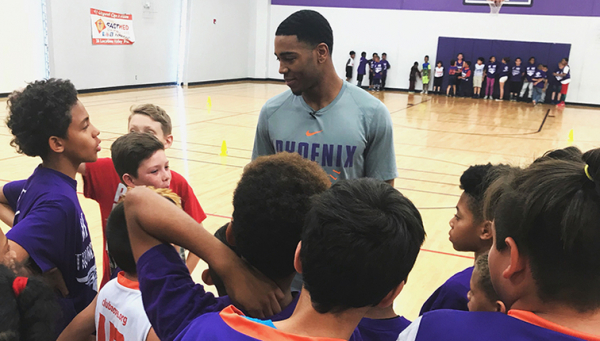 Jr. Suns Clinic at Boys and Girls Club with Shaquille Harrison