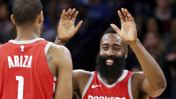 James Harden scores 34, Rockets hold off Timberwolves 129-120