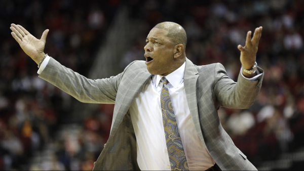 """Doc Rivers on officiating in loss to Rockets: """"That's a joke. That's a complete joke."""""""