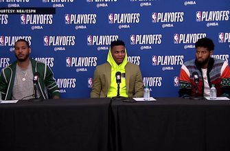 Melo, Westbrook and George Press Conference – Game 3 | Thunder at Jazz