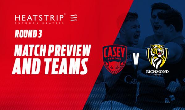 Casey team named for Richmond VFL clash