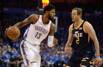 George, Mitchell uncertain for Game 2 of Thunder-Jazz