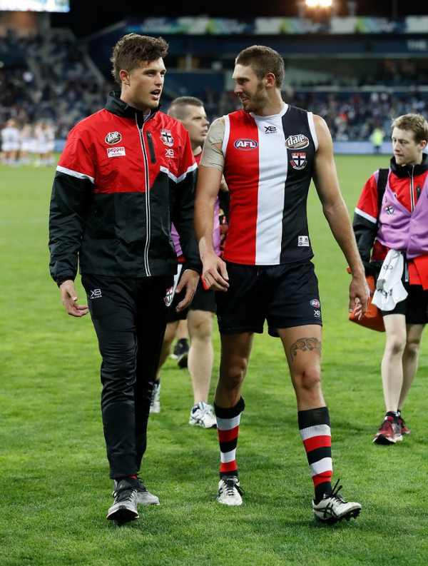 Tall Saint ruled out of Giants clash