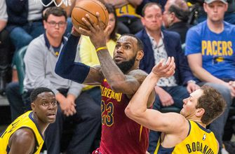 LeBron James, Kyle Korver carry Cavaliers to 104-100 series-tying win over Pacers