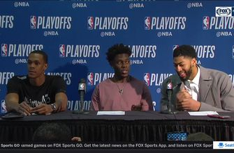 Holiday, Rondo, and  Davis Press Conference – Game 4 | Trail Blazers at Pelicans