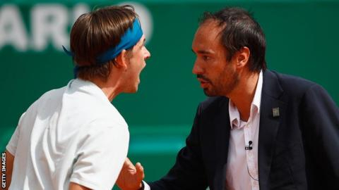 Jared Donaldson: World number 51 confronts umpire on court after wrong decision