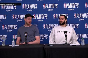 Ricky Rubio and Joe Ingles Press Conference – Game 3 | Thunder at Jazz