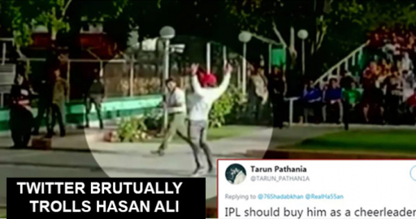 Hasan Ali Trolled For His Weird Celebrations At Wagah Border