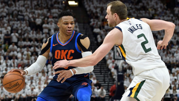 NBA apparently reviewing whether Russell Westbrook should be suspended for Thunder-Jazz Game 5