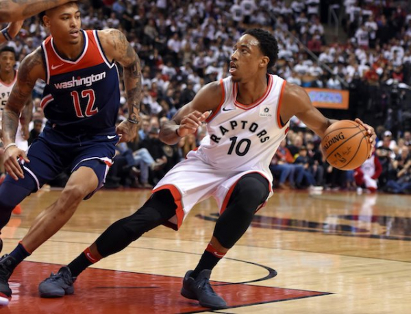 2018 NBA Playoffs Photos: Raptors' DeMar DeRozan Wears Kobe 7 Fade To Black, Kobe X Elite Low 'Christmas'