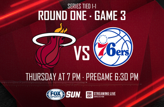 Game 3 preview: Heat look to take control over 76ers as series shifts to Miami