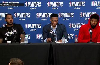 Carmelo Anthony, Russell Westbrook and Paul George Reacts after Game 4 Loss to Jazz