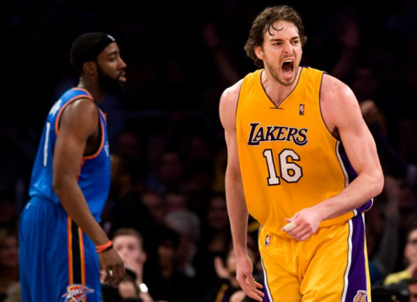 This Day In Lakers History: Pau Gasol, Andrew Bynum Power L.A. To Playoff Win Over Oklahoma City Thunder