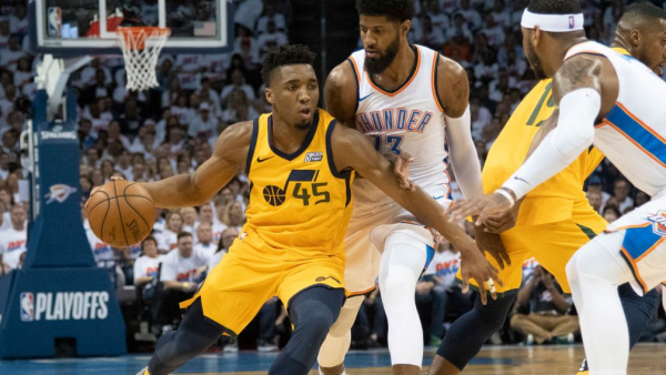 Donovan Mitchell outplays Thunder Big 3 in fourth, Jazz win to even series