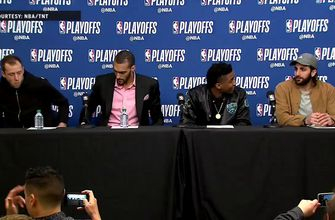 Ingles, Gobert, Mitchell and Rubio Press Conference – Game 4 | Thunder at Jazz