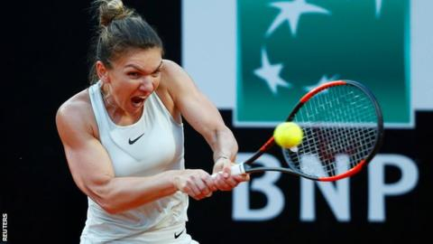 Halep beats Sharapova to reach Italian Open final