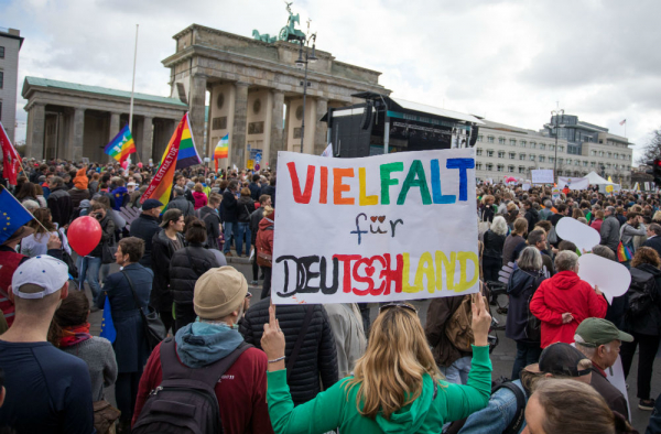 Demonstrators used techno to drown out far-right rallies in Berlin