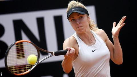 Svitolina overwhelms Halep to win Italian Open