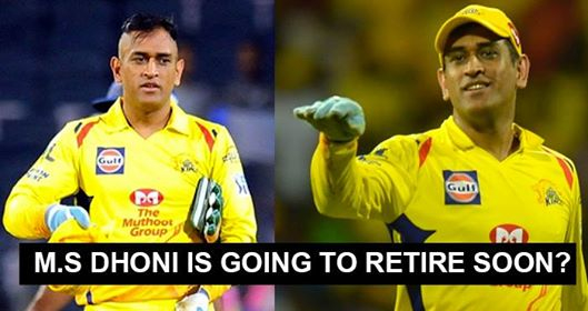 Here's The Proof That MS Dhoni Will Soon Take Retirement