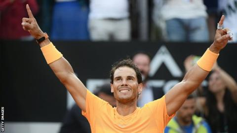 Nadal survives Zverev comeback to win eighth Italian Open