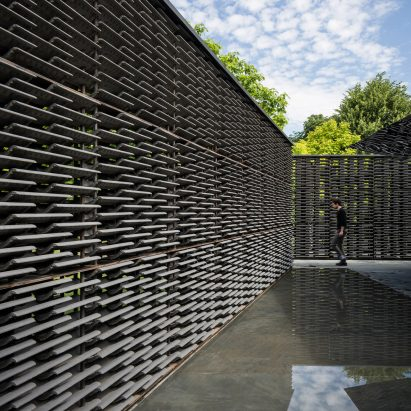 Frida Escobedo's Serpentine Pavilion revealed in photography by Ste Murray