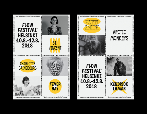 Tsto returns to design Flow Festival's identity, pushing and playing with its typography