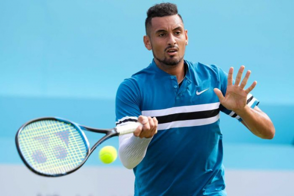 Erratic Nick Kyrgios beats returning two-time Wimbledon Champion Andy Murray in Queen's Club opener