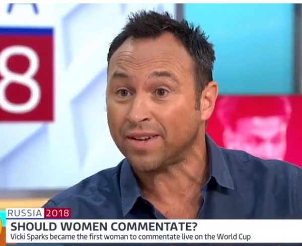 Former Chelsea footballer Jason Cundy says womens voices too high-pitched to commentate football matches