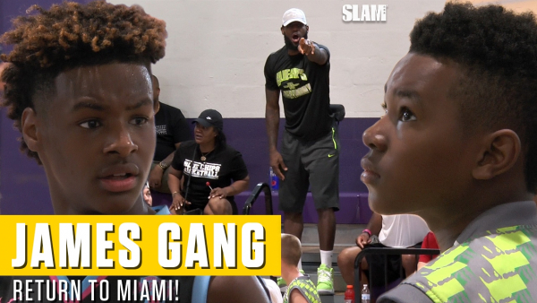 Bronny and Bryce James Put on a SHOW for Pops in South Beach ?
