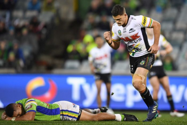 Panthers pip Raiders, Rabbitohs edge out Titans