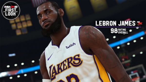 LeBron James Says NBA 2K19 Player Rating, White Lakers Jerseys 'Ain't So Bad'