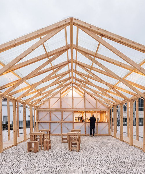 mezzo atelier's pavilion opens up to the walk&talk art festival of são miguel