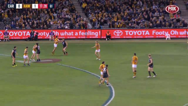 Hawthorn's Daniel Howe set for Match Review Officer scrutiny for hitting Patrick Cripps in the jaw