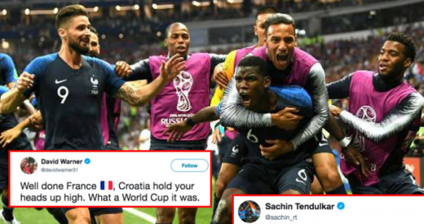 Here's How Cricket World Reacted To France Winning FIFA World Cup 2018
