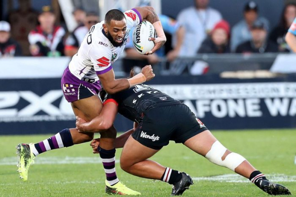 Storm go top of the NRL ladder, Roosters thump Manly at Brookvale