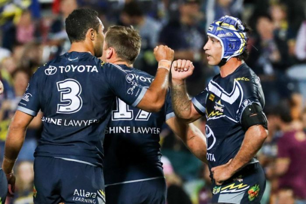Johnathan Thurston leads Cowboys to victory in final home appearance