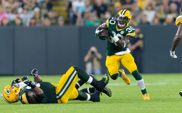 Packers running back Jamaal Williams says hell retaliate for dirty plays