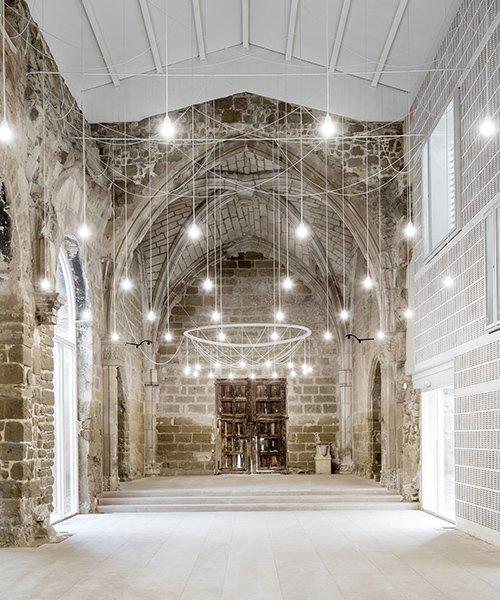 aleaolea restores spanish gothic ruins of the church of vilanova del la barca