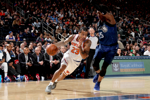 Knicks' Trey Burke significantly improved finishing near the rim