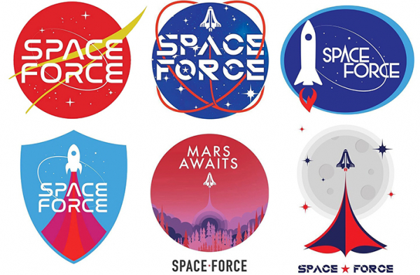 America's getting a space force and wants Trump supporters to choose its logo